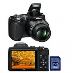 Câmera digital nikon coolpix l120 preto