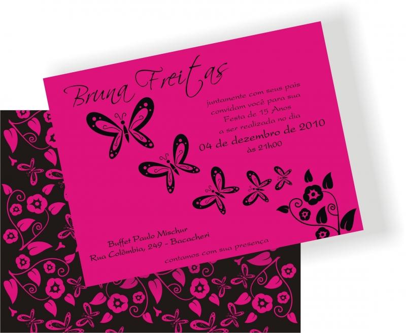 Convite Personalizado Para Festa De 15 Anos   Envelope Tamb  M