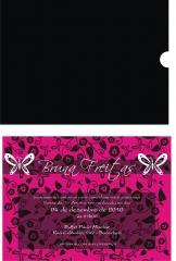 Convite personalizado para festa de 15 anos com envelope em um tom de cor - diversas cores - formato do convite 15/20 cm. 41 3019-9878