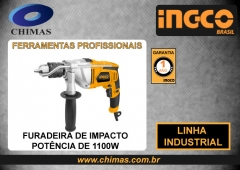 Furadeira de impacto potÊncia de 1100w ingco