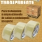 Fita adesiva transparente 48x100 e 24x100 e 12x50 para fechamento de caixas e embalagens