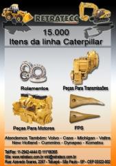 Peças para carregadeiras, retro-escavadeiras, motoniveladores -