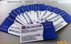 Impressão digital de cartões de visita + criação de arte - this is comunicaÇÃo visual