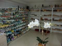 Setor de produtos naturais, alimentos integrais e fitoterápicos.