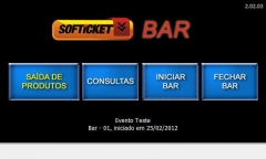 Softicket bar é um sistema personalizado desenvolvido pela cekurte sistemas.