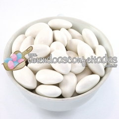 Amêndoas confeitadas branca premium