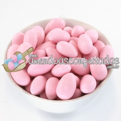 Amêndoas confeitadas rosa bebê premium