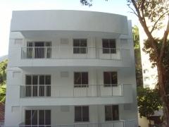 Vista da fachada de fundos do ed. residencial quality blue