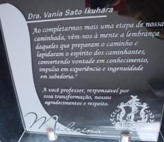 Professora homenageada da faculdade de medicina de presidente prudente- sp
