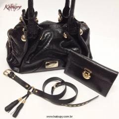 Bolsas femininas de couro kabupy - preto